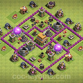 Full Upgrade TH6 Base Plan with Link, Copy Town Hall 6 Max Levels Design 2021, #151