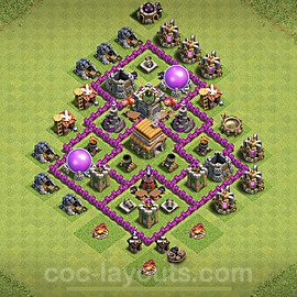 Anti Everything TH6 Base Plan with Link, Copy Town Hall 6 Design 2021, #152