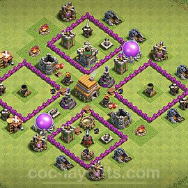 TH6 Anti 2 Stars Base Plan with Link, Copy Town Hall 6 Base Design 2020, #72