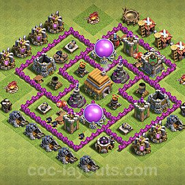 Full Upgrade TH6 Base Plan with Link, Copy Town Hall 6 Max Levels Design 2020, #73