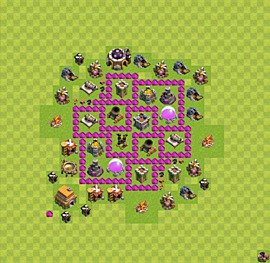 Base plan Town Hall level 6 for farming (variant 10)