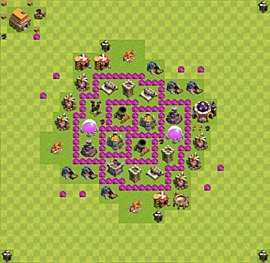 Base plan Town Hall level 6 for farming (variant 11)