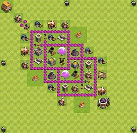 Base plan Town Hall level 6 for farming (variant 13)