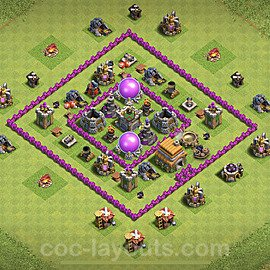 Base plan TH6 Max Levels with Link for Farming 2021, #136