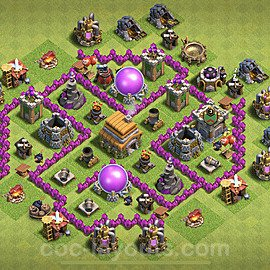 Base plan TH6 Max Levels with Link for Farming 2021, #138