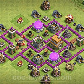 Base plan TH6 Max Levels with Link for Farming 2021, #139