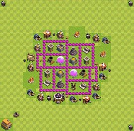 Base plan Town Hall level 6 for farming (variant 14)