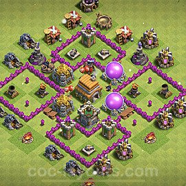 Base plan TH6 Max Levels with Link for Farming 2021, #140