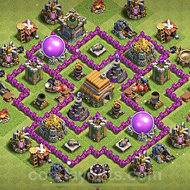 Base plan TH6 Max Levels with Link for Farming 2021, #141