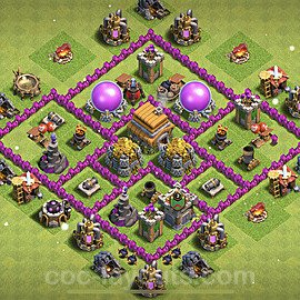 Base plan TH6 Max Levels with Link for Farming 2021, #144