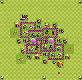 Base plan Town Hall level 6 for farming (variant 15)