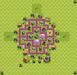 Base plan Town Hall level 6 for farming (variant 16)
