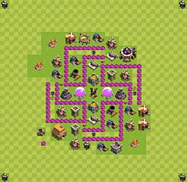 Base plan Town Hall level 6 for farming (variant 18)