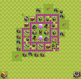 Base plan Town Hall level 6 for farming (variant 19)