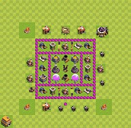 Base plan Town Hall level 6 for farming (variant 20)