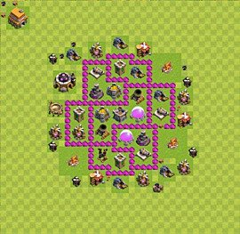 Base plan Town Hall level 6 for farming (variant 21)