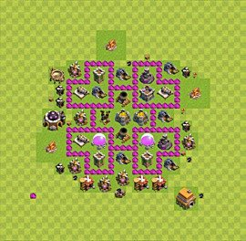 Base plan Town Hall level 6 for farming (variant 22)