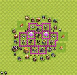 Base plan Town Hall level 6 for farming (variant 25)
