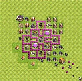 Base plan Town Hall level 6 for farming (variant 27)