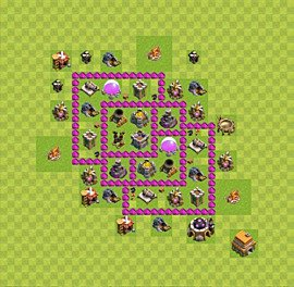 Base plan Town Hall level 6 for farming (variant 29)