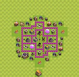 Base plan Town Hall level 6 for farming (variant 33)