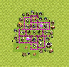 Base plan Town Hall level 6 for farming (variant 34)
