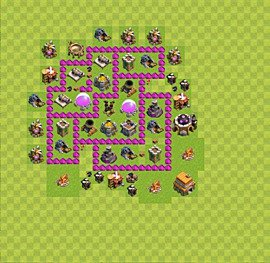 Base plan Town Hall level 6 for farming (variant 35)