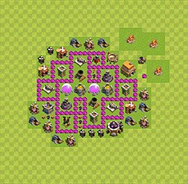 Base plan Town Hall level 6 for farming (variant 39)