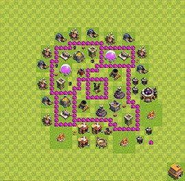 Base plan Town Hall level 6 for farming (variant 40)
