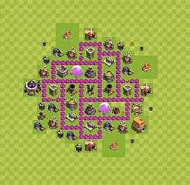 Base plan Town Hall level 6 for farming (variant 42)
