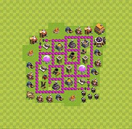 Base plan Town Hall level 6 for farming (variant 44)