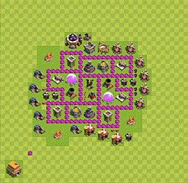 Base plan Town Hall level 6 for farming (variant 45)