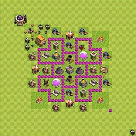 Base plan Town Hall level 6 for farming (variant 46)