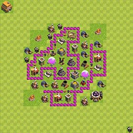 Base plan Town Hall level 6 for farming (variant 47)