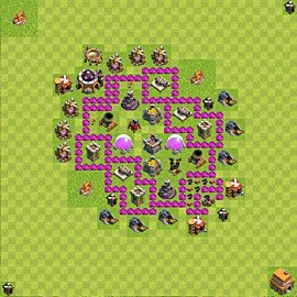 Base plan Town Hall level 6 for farming (variant 48)