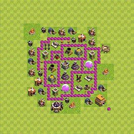 Base plan Town Hall level 6 for farming (variant 49)