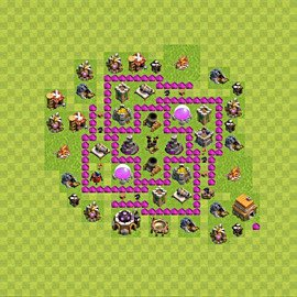 Base plan Town Hall level 6 for farming (variant 51)