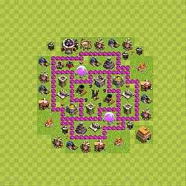 Base plan Town Hall level 6 for farming (variant 52)