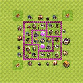 Base plan Town Hall level 6 for farming (variant 53)