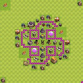 Base plan Town Hall level 6 for farming (variant 54)