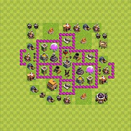 Base plan Town Hall level 6 for farming (variant 56)