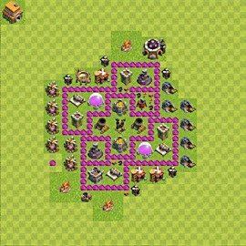 Base plan Town Hall level 6 for farming (variant 57)
