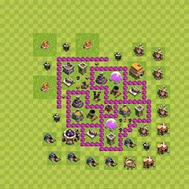 Base plan Town Hall level 6 for farming (variant 58)
