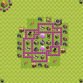 Base plan Town Hall level 6 for farming (variant 59)