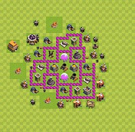 Base plan Town Hall level 6 for farming (variant 6)