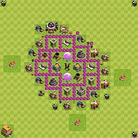 Base plan Town Hall level 6 for farming (variant 60)