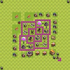 Base plan Town Hall level 6 for farming (variant 61)