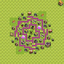 Base plan Town Hall level 6 for farming (variant 62)