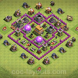 Base plan TH6 Max Levels with Link for Farming 2020, #65