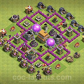 Base plan TH6 (design / layout) with Link for Farming 2020, #66